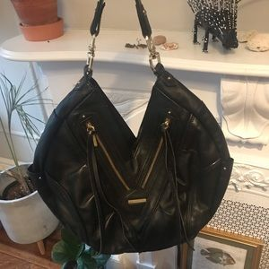 Jack Rabbit Black Leather Bag